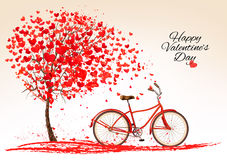 Υπόβαθρο ημέρας βαλεντίνου με ένα ποδήλατο Στοκ εικόνα με δικαίωμα ελεύθερης χρήσης