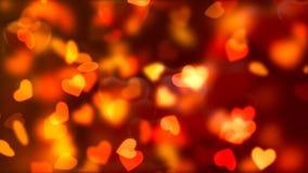 Υπόβαθρο ημέρας βαλεντίνων ` s, πετώντας αφηρημένα καρδιές και μόρια διανυσματική απεικόνιση