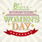 Υπόβαθρο ημέρας γυναικών Στοκ Εικόνες