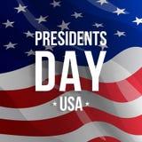 Υπόβαθρο ημέρας Προέδρων στη αμερικανική σημαία Στοκ εικόνες με δικαίωμα ελεύθερης χρήσης