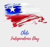 Υπόβαθρο ημέρας της ανεξαρτησίας της Χιλής Στοκ φωτογραφία με δικαίωμα ελεύθερης χρήσης