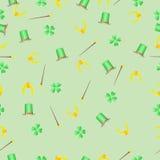 Υπόβαθρο ημέρας του ST Patricks με το τριφύλλι Στοκ Φωτογραφίες