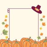 Υπόβαθρο ημέρας των ευχαριστιών με την εποχιακή διακόσμηση κολοκυθών και te Απεικόνιση αποθεμάτων