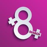 Υπόβαθρο ημέρας των διανυσματικών γυναικών. Eps10 Στοκ Φωτογραφία