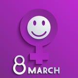 Υπόβαθρο ημέρας των διανυσματικών γυναικών. Eps10 Στοκ Φωτογραφίες