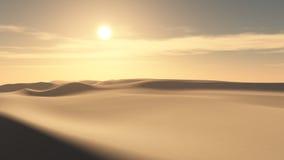 Υπόβαθρο ηλιοβασιλέματος ερήμων απεικόνιση αποθεμάτων