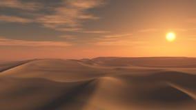 Υπόβαθρο ηλιοβασιλέματος ερήμων διανυσματική απεικόνιση