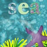 Υπόβαθρο θάλασσας για τα παιδιά Στοκ Εικόνα