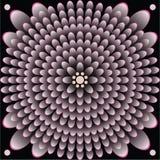Υπόβαθρο θέσης μετατροπής λουλουδιών νιφάδων απεικόνιση αποθεμάτων