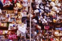 Υπόβαθρο θαμπάδων Defocused παζαριών Στοκ Εικόνες