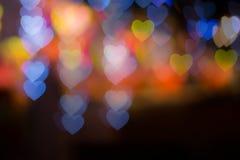 Υπόβαθρο θαμπάδων καρδιών Bokhe Στοκ Φωτογραφίες