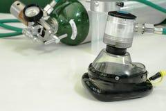 Υπόβαθρο θαμπάδων κυλίνδρων οξυγόνου Στοκ εικόνες με δικαίωμα ελεύθερης χρήσης