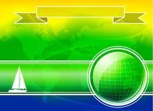 Υπόβαθρο θερινού χρώματος με το γιοτ Στοκ φωτογραφίες με δικαίωμα ελεύθερης χρήσης