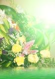Υπόβαθρο θερινών λουλουδιών Στοκ Φωτογραφίες