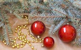 Υπόβαθρο διακοσμήσεων Χριστουγέννων στοκ φωτογραφία