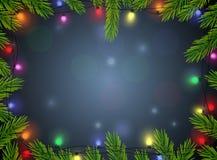 Υπόβαθρο διακοσμήσεων Χριστουγέννων Στοκ Εικόνα
