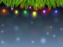 Υπόβαθρο διακοσμήσεων Χριστουγέννων Στοκ Εικόνες
