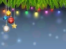 Υπόβαθρο διακοσμήσεων Χριστουγέννων Στοκ Φωτογραφίες