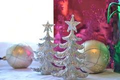 Υπόβαθρο διακοσμήσεων Χριστουγέννων Glittery Στοκ Εικόνες