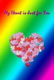 Υπόβαθρο ιπτάμενων πρόσκλησης κομμάτων ημέρας βαλεντίνων καρτών ημέρας βαλεντίνων LGBT Στοκ Φωτογραφίες