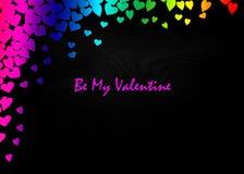 Υπόβαθρο ιπτάμενων πρόσκλησης κομμάτων ημέρας βαλεντίνων καρτών ημέρας βαλεντίνων LGBT Στοκ Εικόνα