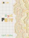 Υπόβαθρο κάλυψης φεστιβάλ μουσικής διανυσματική απεικόνιση