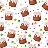 Υπόβαθρο κέικ Πάσχας άνευ ραφής Στοκ Εικόνα