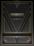 Υπόβαθρο και πλαίσιο του Art Deco Στοκ Φωτογραφία