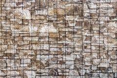 Υπόβαθρο και σύσταση ενός τεμαχίου μιας νέας χτισμένης καφετιάς πέτρας στοκ φωτογραφία με δικαίωμα ελεύθερης χρήσης