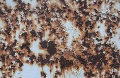 Υπόβαθρο και σύσταση σκουριάς σίδηρος Παλαιό γαλαζωπό χρώμα στοκ εικόνα