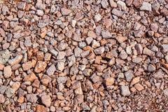 Υπόβαθρο και σύσταση των μικρών πετρών στο έδαφος Στοκ Εικόνες