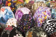 Υπόβαθρο και σύσταση των χρωμάτων και σχέδιο του υφάσματος Στοκ Φωτογραφίες