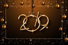 2019 υπόβαθρο καλής χρονιάς για τα εποχιακά ιπτάμενα και το Gree σας ελεύθερη απεικόνιση δικαιώματος