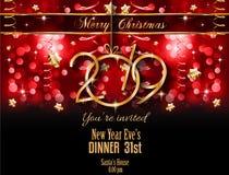2019 υπόβαθρο καλής χρονιάς για τα εποχιακά ιπτάμενα και το Gree σας διανυσματική απεικόνιση