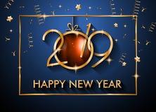 2019 υπόβαθρο καλής χρονιάς για τα εποχιακά ιπτάμενα και το Gree σας απεικόνιση αποθεμάτων