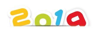 2019 υπόβαθρο καλής χρονιάς με τη σκιά ελεύθερη απεικόνιση δικαιώματος
