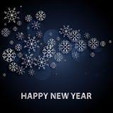 2018 υπόβαθρο καλής χρονιάς με τις ασημένια επιστολές και snowflakes απεικόνιση αποθεμάτων