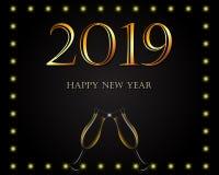 Υπόβαθρο καλής χρονιάς 2019 ελεύθερη απεικόνιση δικαιώματος
