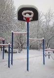 Υπόβαθρο καλαθιών χειμερινής καλαθοσφαίρισης Στοκ Εικόνα