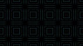 Υπόβαθρο καλειδοσκόπιων Disco με τις ζωντανεψοντες καμμένος ζωηρόχρωμες γραμμές νέου και τις γεωμετρικές μορφές για τα μουσικά βί φιλμ μικρού μήκους