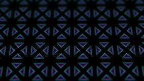 Υπόβαθρο καλειδοσκόπιων Disco με τις ζωντανεψοντες καμμένος ζωηρόχρωμες γραμμές νέου και τις γεωμετρικές μορφές για τα μουσικά βί απόθεμα βίντεο
