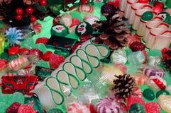 Υπόβαθρο καραμελών Χριστουγέννων Στοκ εικόνα με δικαίωμα ελεύθερης χρήσης