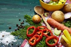 Υπόβαθρο καρυκευμάτων λαχανικών στοκ εικόνα με δικαίωμα ελεύθερης χρήσης