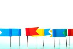 Υπόβαθρο καρφιτσών σημαιών Στοκ Εικόνα