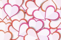 Υπόβαθρο καρδιών αγάπης εγγράφου Στοκ εικόνα με δικαίωμα ελεύθερης χρήσης