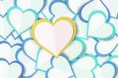 Υπόβαθρο καρδιών αγάπης εγγράφου Στοκ Εικόνες