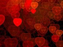 Υπόβαθρο καρδιών - αφηρημένη ψηφιακά παραγμένη εικόνα Στοκ Εικόνες