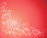 Υπόβαθρο καρδιών βαλεντίνων διανυσματική απεικόνιση