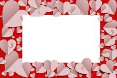 Υπόβαθρο καρδιών εγγράφου Στοκ φωτογραφίες με δικαίωμα ελεύθερης χρήσης