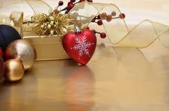 Υπόβαθρο καρδιών Χριστουγέννων στοκ φωτογραφία